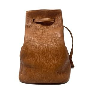 COACH Vintage Brown Pebbled Leather Backpack